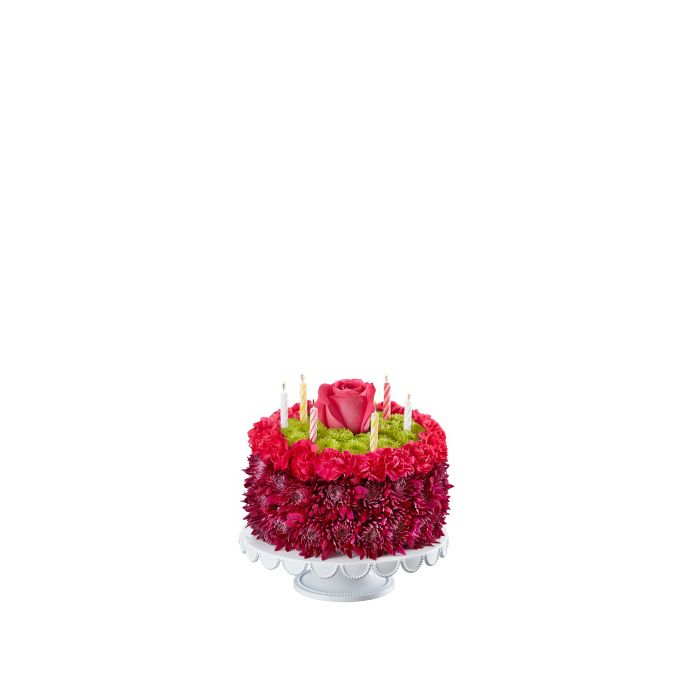 Prime Birthday Flower Cake Flower Arrangement By Mia Flowers Florist In Personalised Birthday Cards Beptaeletsinfo