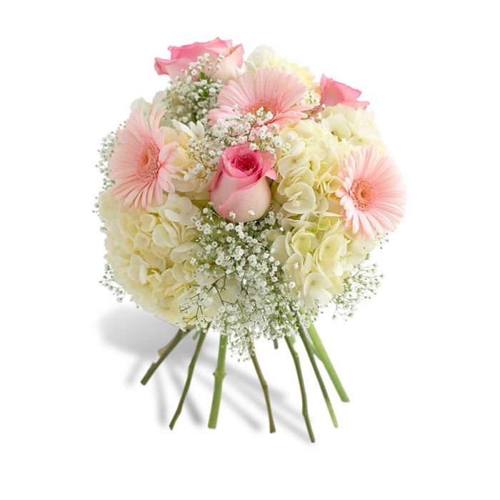 Purchase Dainty Pink And White Bouquet By Flowers Of Hobe Sound