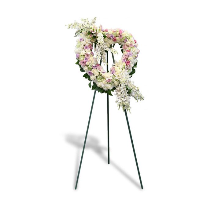 Pastel Heart Wreath By Flowers Of Hobe Sound Funeral And Casket Flowers 449 95