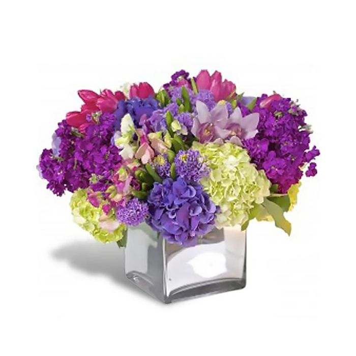 Purchase Purple Hydrangea And Tulip Mix By Flowers Of Hobe Sound