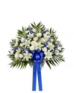 Heartfelt Sympathies Basket In Blue
