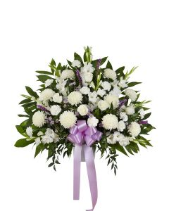 Heartfelt Sympathies Basket In Lavender
