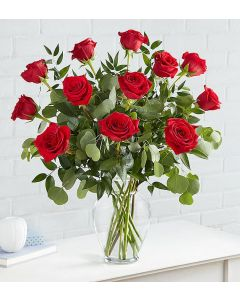 Hearts Desire Long Stem Red Roses