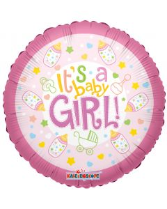 It's a baby girl balloon