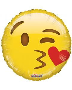Kiss wink Emoji Balloon