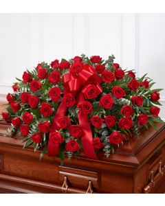 Rose Half Casket In Red