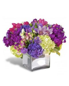 Purple Hydrangea And Tulip Mix