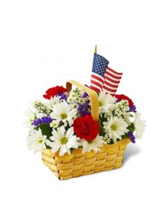 Red, White, & Blooms Bouquet
