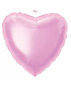 Solid Pastel-Pink Heart Balloon