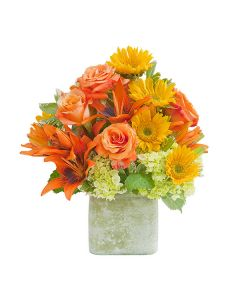 Heaven's Sunset Textured Vase