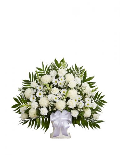 Tribute Basket In White