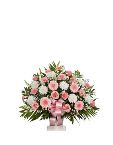 Tribute Basket In Pink