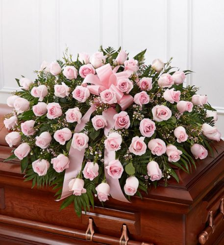 Rose Half Casket In Pink