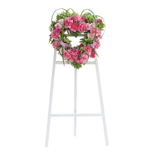 Peaceful Pink Heart Wreath