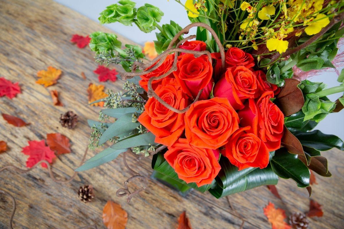 roses fall arrangement