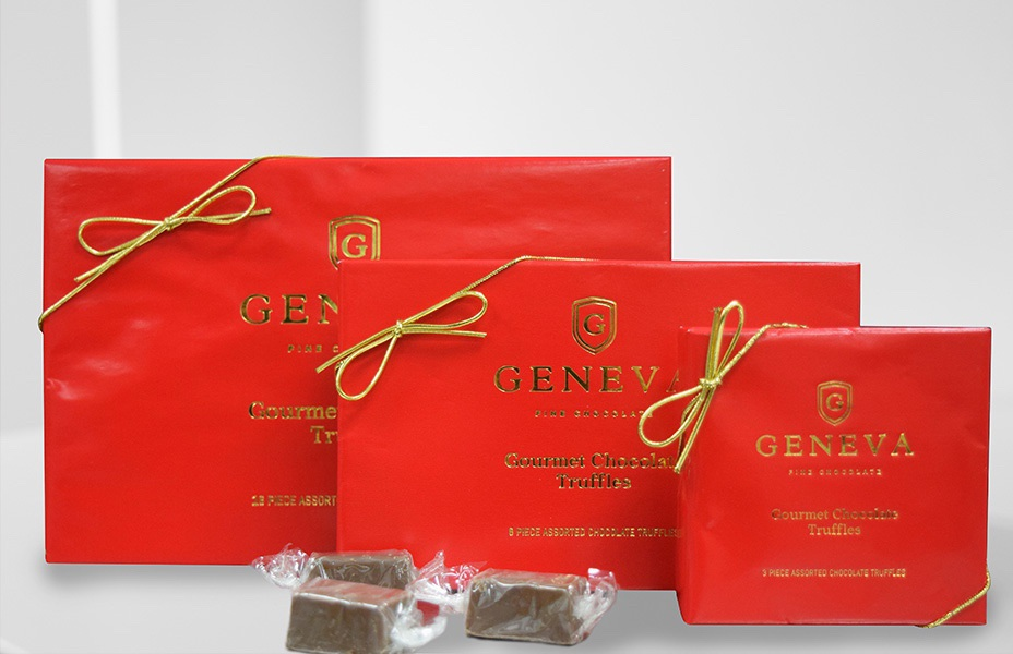 box of Geneva Fine Chocolate